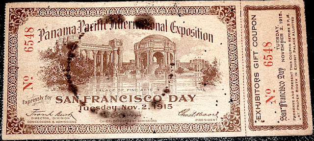 1915 pan pacific expo ticket