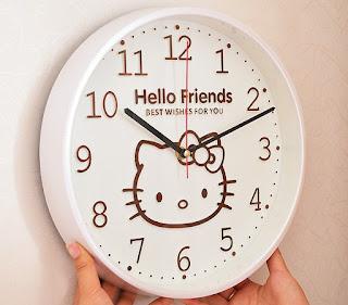 Gambar Jam Dinding Hello Kitty 10