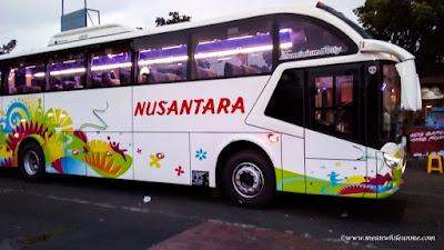 pilihan bis jurusan Bandung Pekalongan Bus Nusantara eksekutif ekonomis