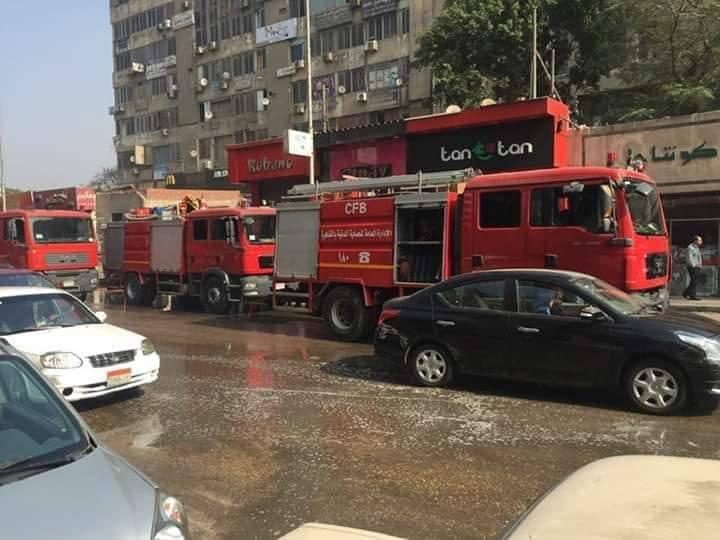 محافظة القاهرة: حريق بـ7 محلات في ممر الراعي الصالح بشبرا