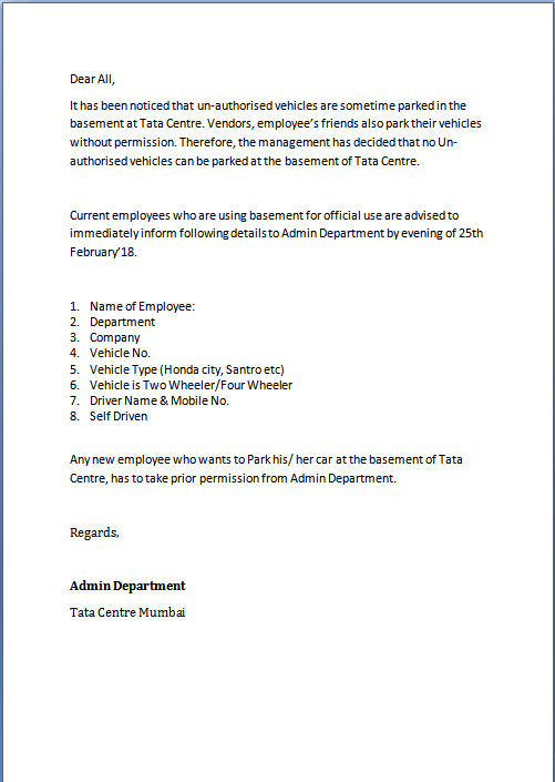 Auto Finance Manager Resume Samples Jobhero Unauthorized Parking Letter Format In Word