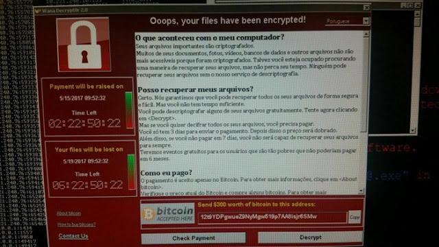 WannaCry em português - fonte imagem: tecmundo.com.br