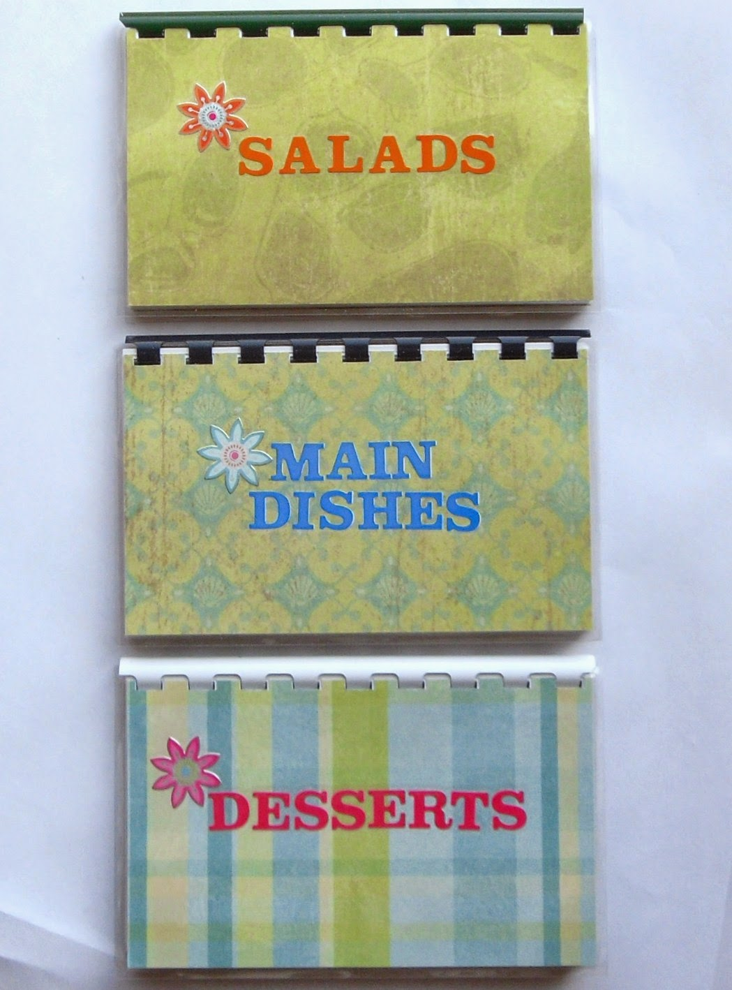 3 Pkg Blank Recipe books