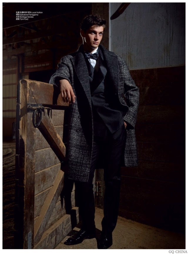 matthew bell, gq china, editorial de moda, fashion, models, louis vuitton, ferragamo, bottega veneta, tom ford
