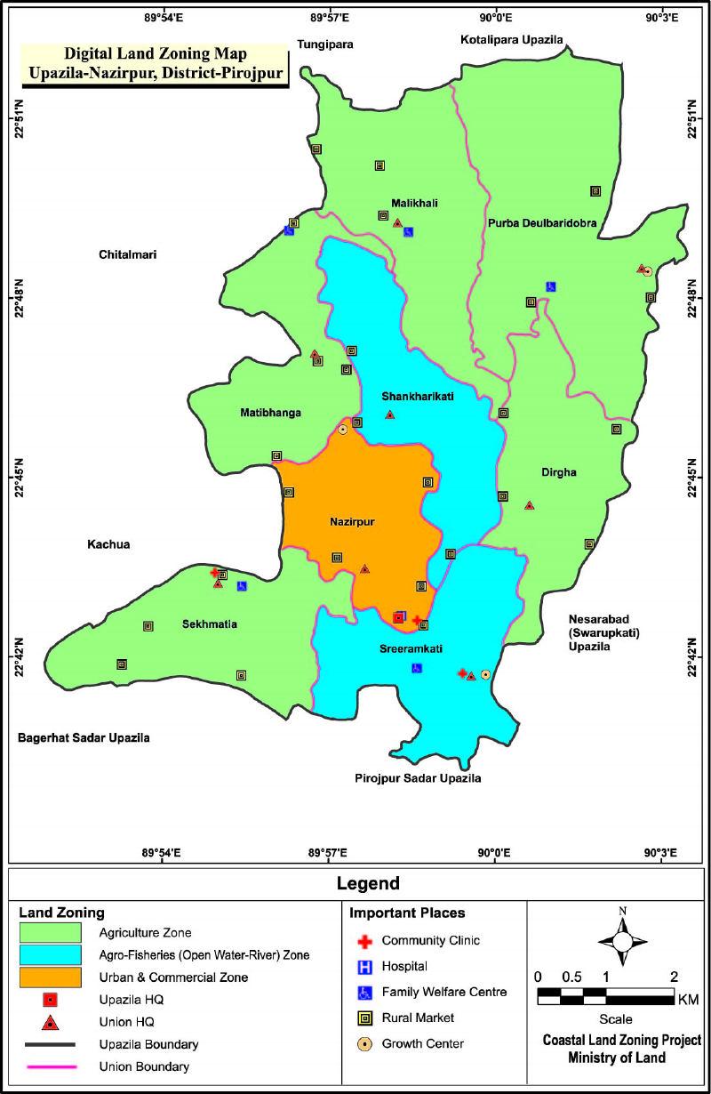 Nazirpur Upazila Mouza Map Pirojpur District Bangladesh