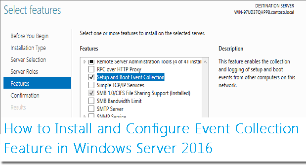 How to Install and Configure Event Collection Feature in
