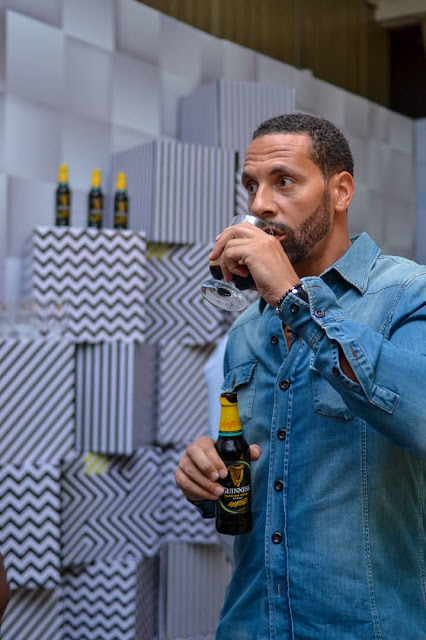 Rio ferdinand?s extraordinary night at Guinness Flavour Rooms