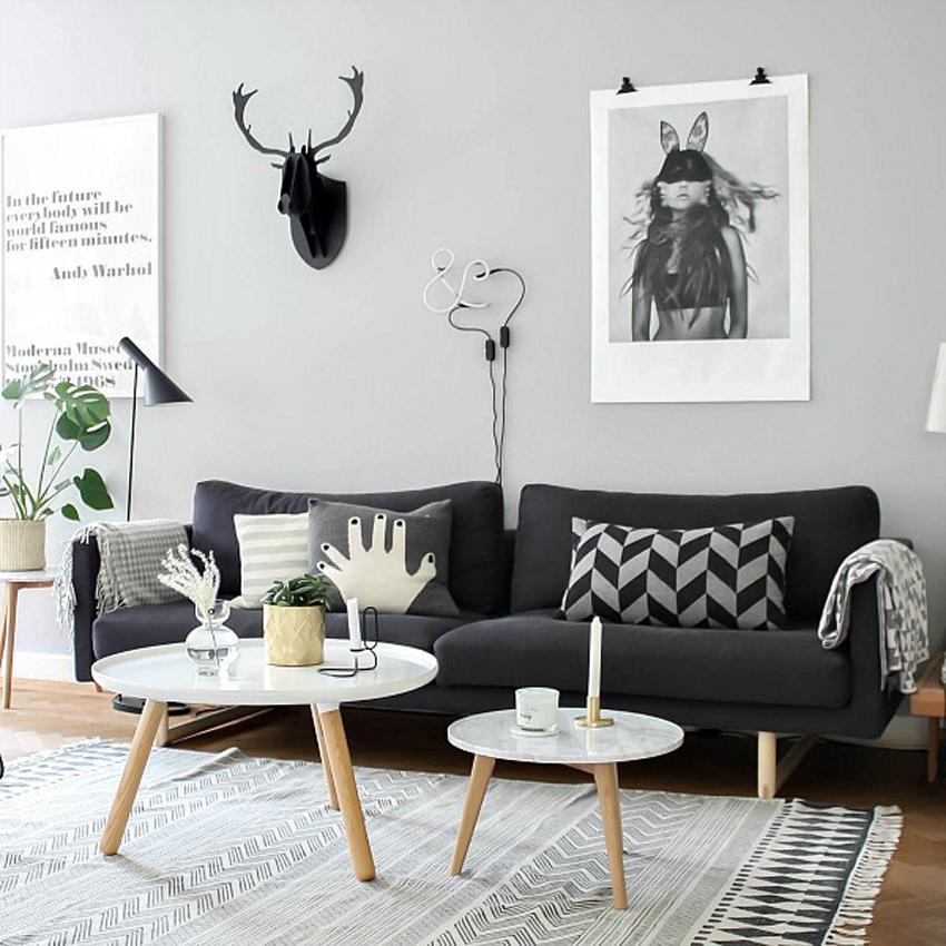 decoración nórdica salón