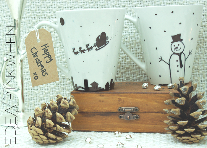 DIY - Handmade Xmas Mugs | EDEA SMITH