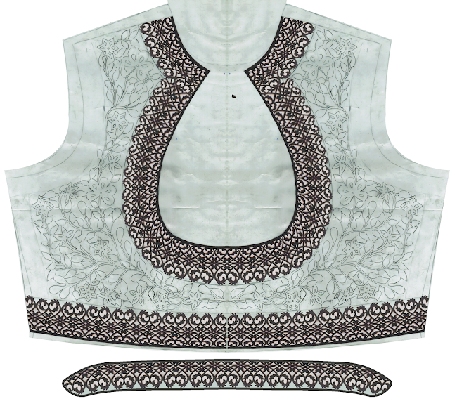 Top dress cutwork