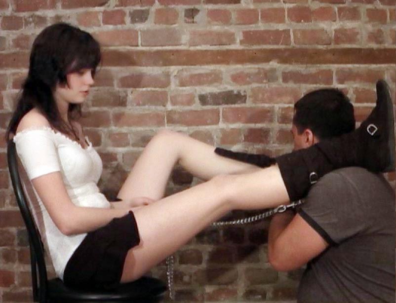Lick her socks would like
