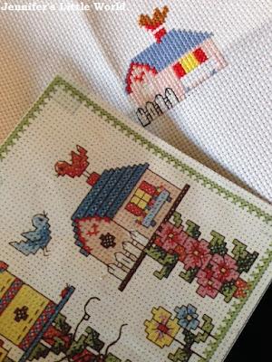 Cross stitch birdhouse kit