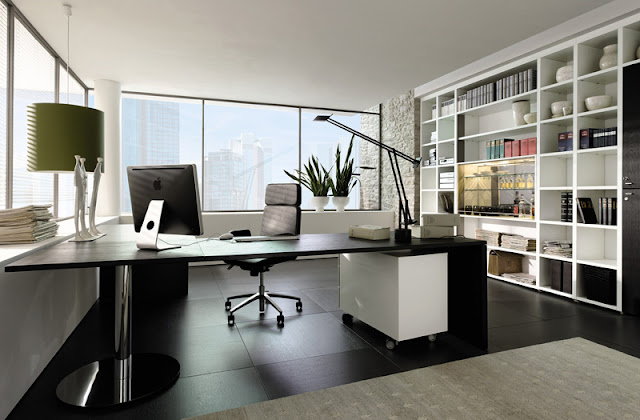 Illustious Contemporary Wooden Office Interior Design