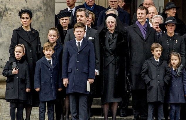 Royal family around the world funeral of danish prince henrik in the royal family of denmark attend as prince henrik the husband of queen margrethe is carried from the parliament palace church to the hearse on february sciox Image collections