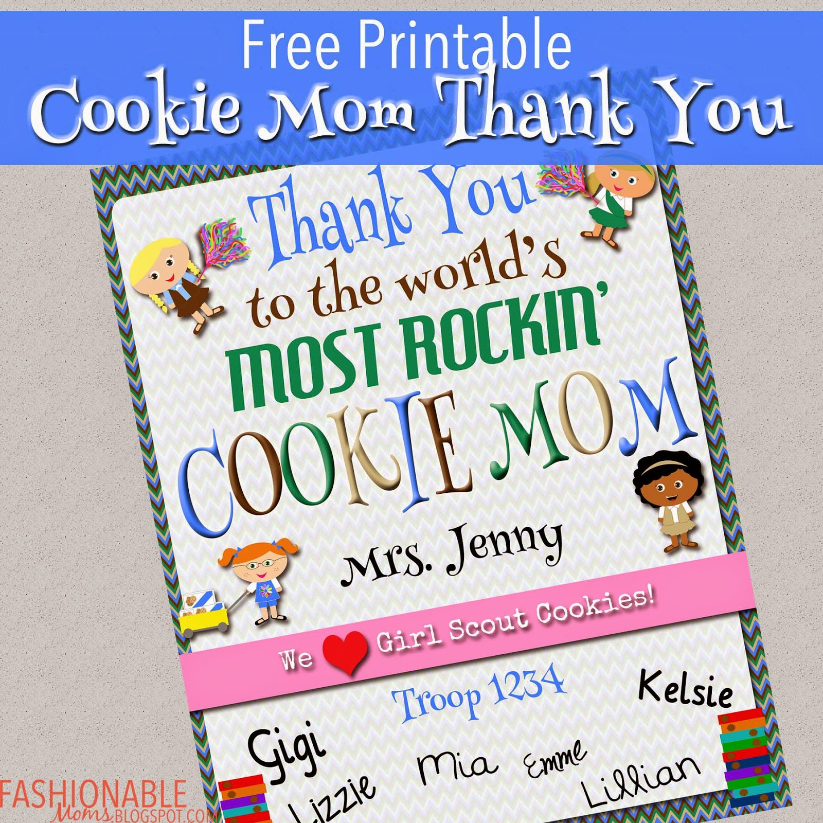 My Fashionable Designs Free Printable Cookie Mom Thank You Certificate