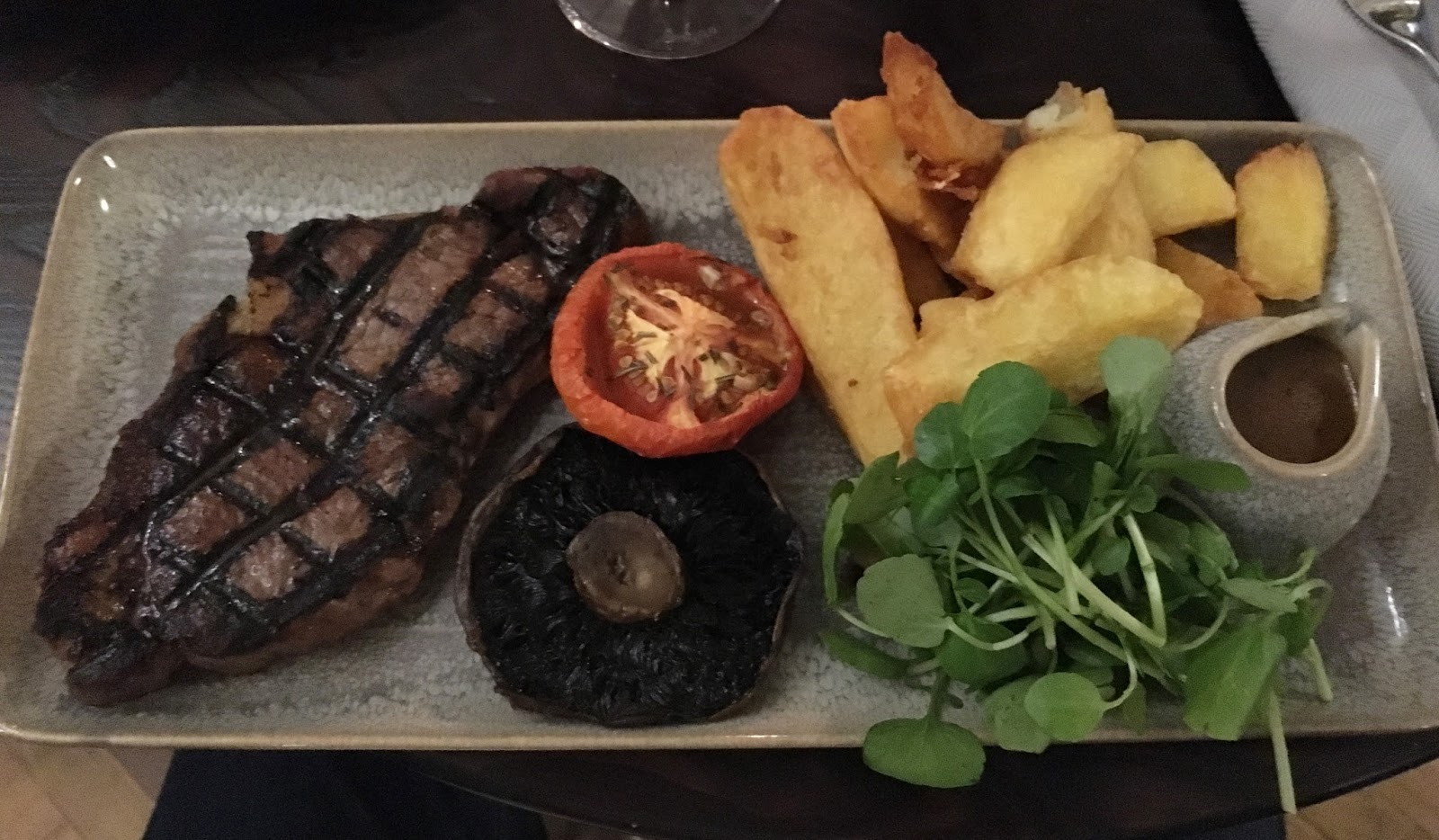 Prime restaurant, Stirk House, Gisburn, steak main course