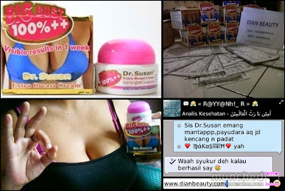 Cream Payudara dr Susan Asli Memperbesar Payudara Permanen
