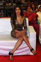 Pooja Hegde looks glamarous in deep neck sleevless short tight golden gown at Duvvada Jagannadham thank you meet function 166.JPG