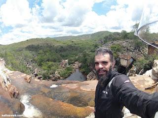 Muito calor na Cachoeira do Moinho em Milho Verde/MG.