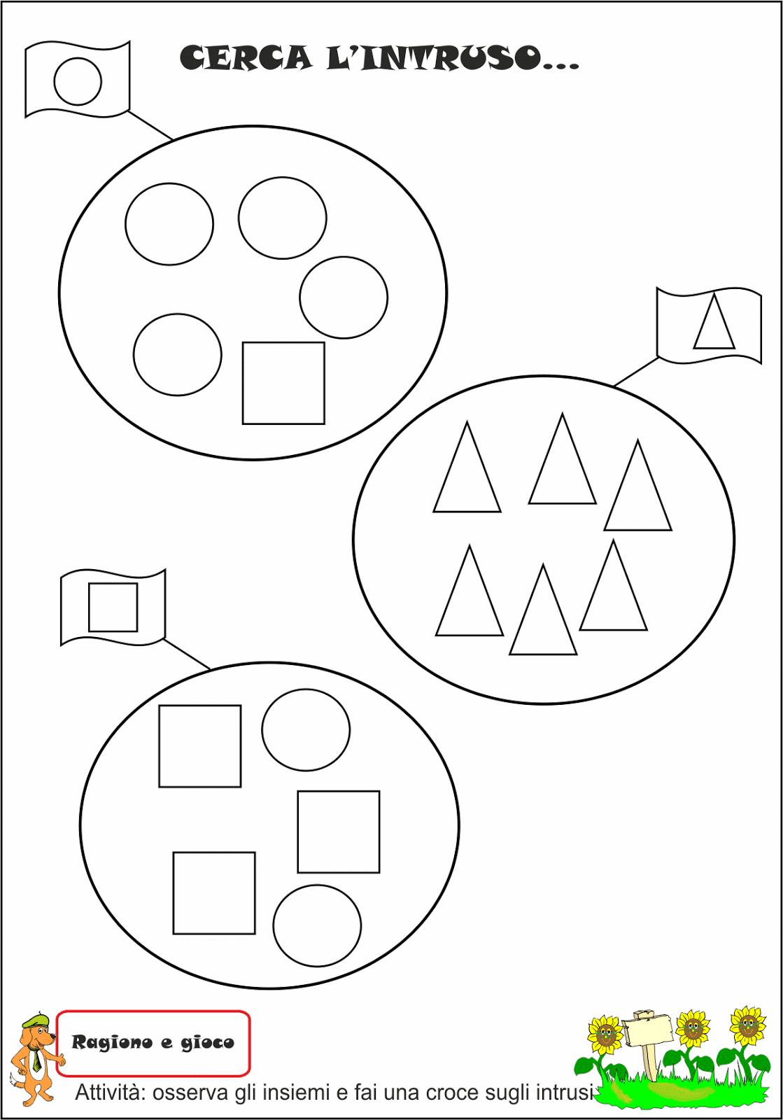 A scuola con poldo schede didattiche sulle forme for Schede didattiche scuola dell infanzia da stampare natale