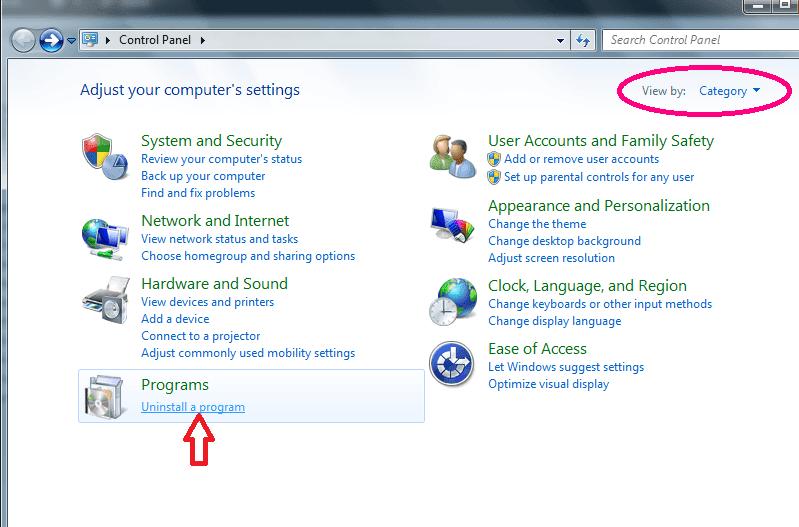 Cách gỡ bỏ phần mềm trên máy tính windows