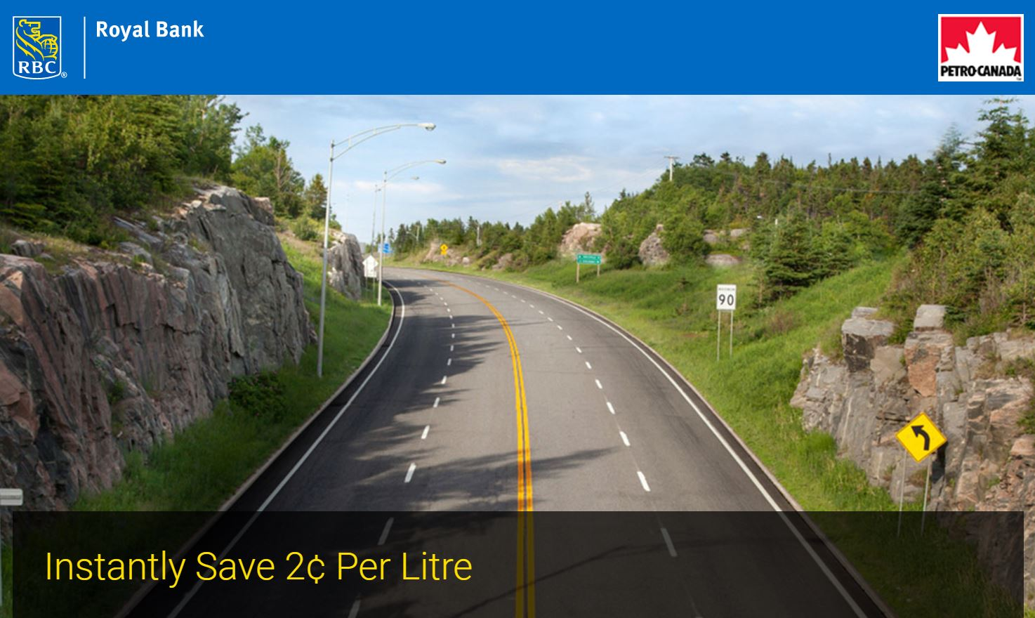 Use RBC credit cards at Petro-Canada and save 2 cents/liter - Miles