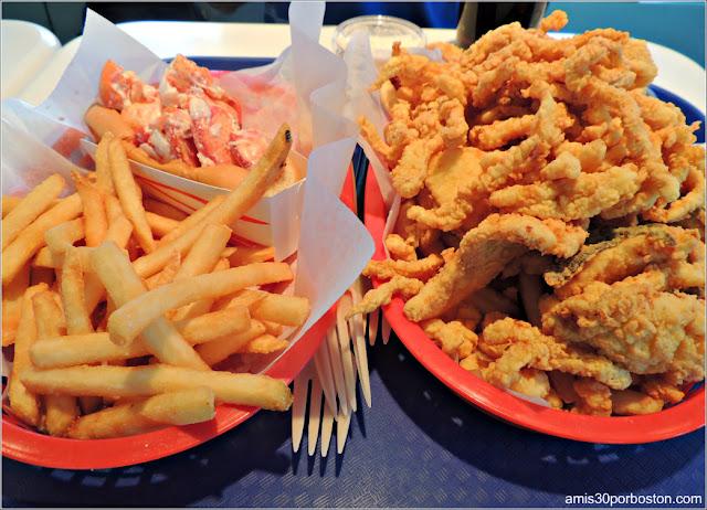 Lobster Roll y Marisco Frito de Nueva Inglaterra