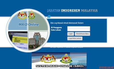 Permohonan Pembantu Rumah Asing MAID 2018 Online