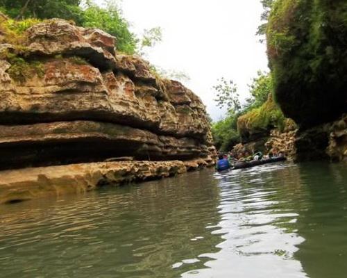 travel.tunuku.com Pindul cave tubing down the exotic underground river Kalisuci Ecokarts Park in Gunung Kidul