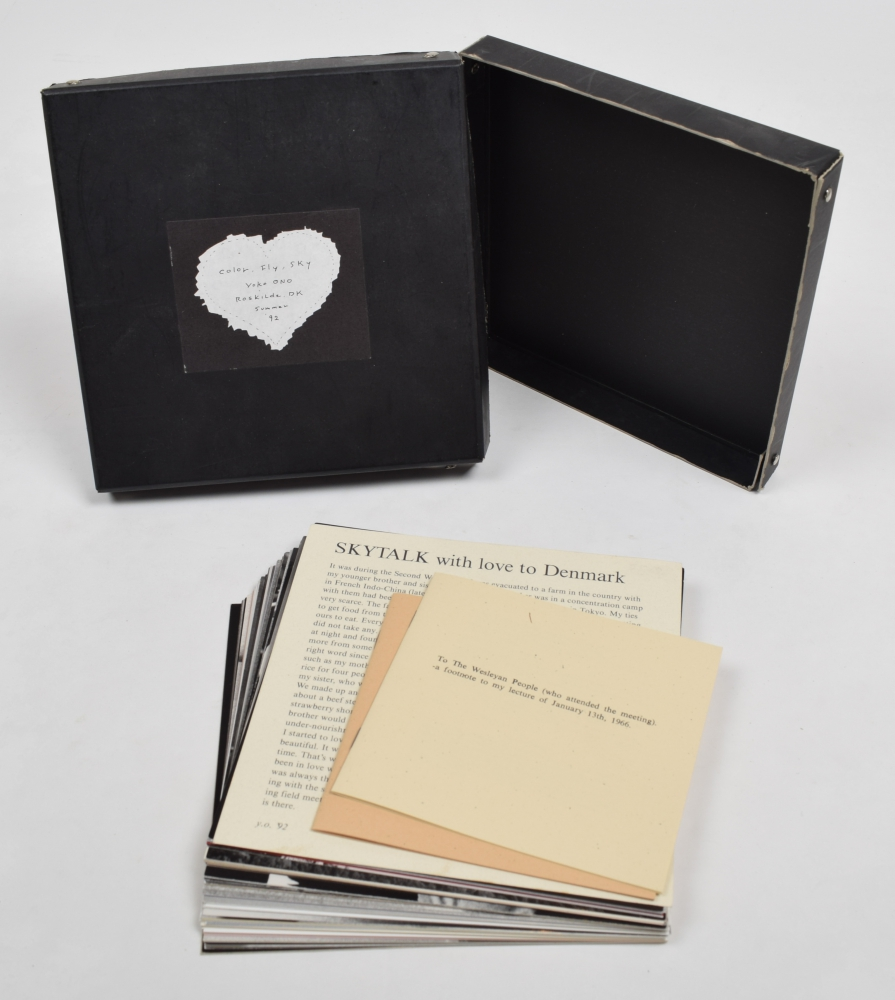 Artists Books And Multiples Yoko Ono Color Fly Sky