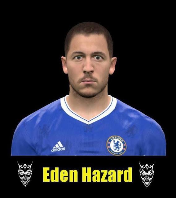 Face Eden Hazard PES 2017