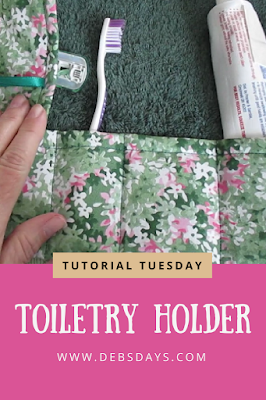 Easy Homemade Travel Toiletry Roll Up Organizer Sewing Project