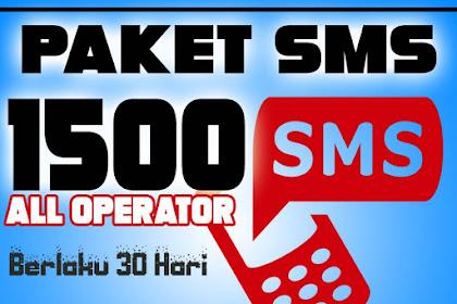 Paket 1500 SMS Telkomsel ke All Operator 30 Hari