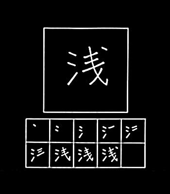 kanji dangkal