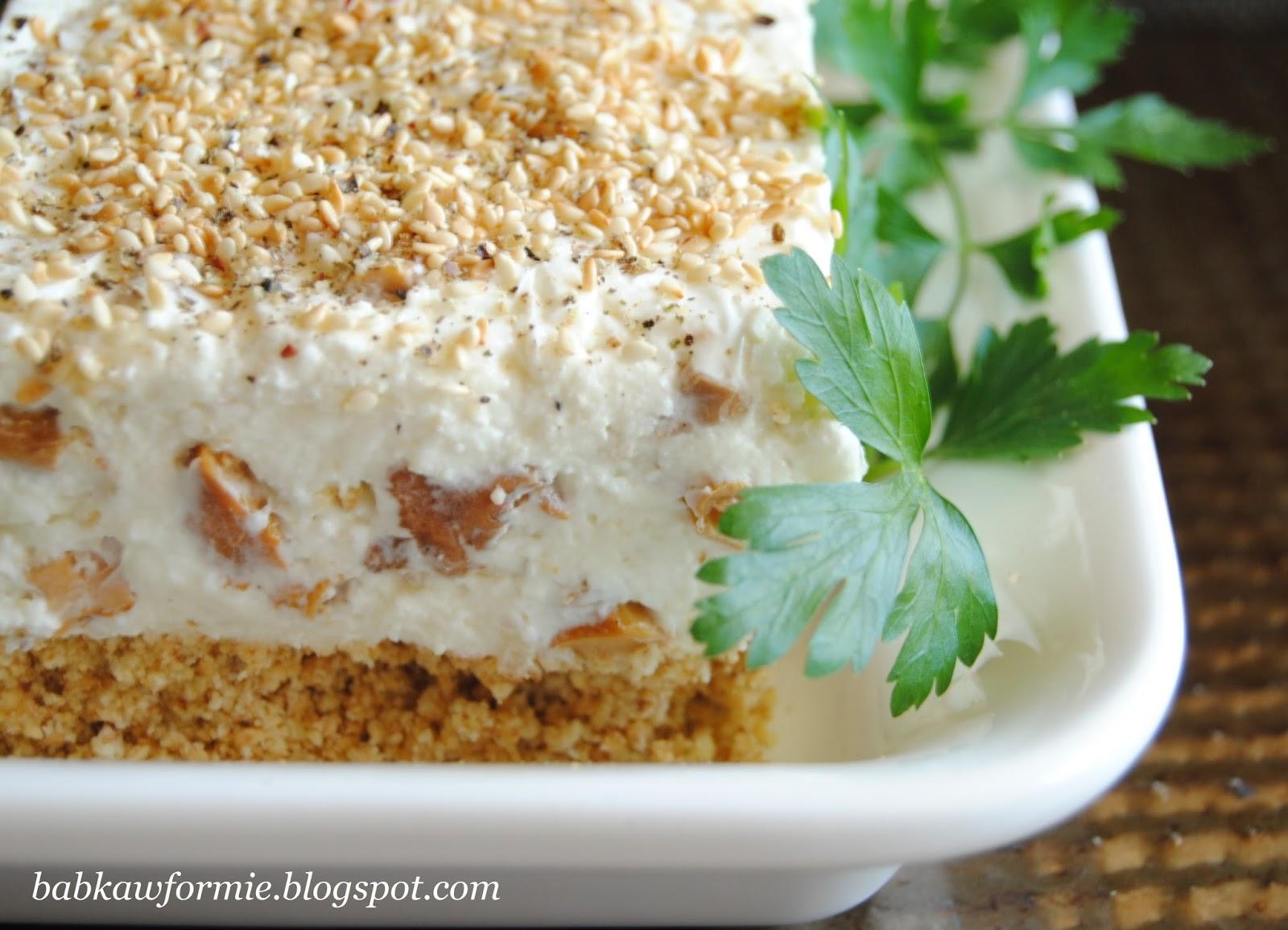 terrina serowa z kurkami przystawki i przekąski babkawformie.blogspot.com