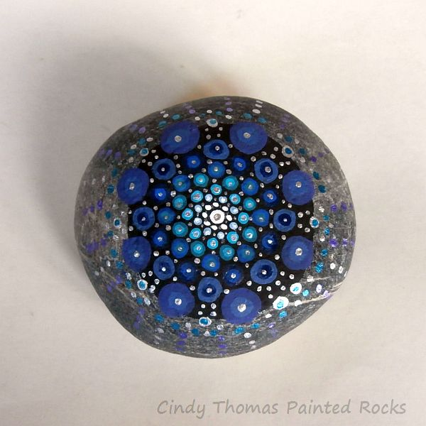 Cindy Thomas Painted Mandala Stone