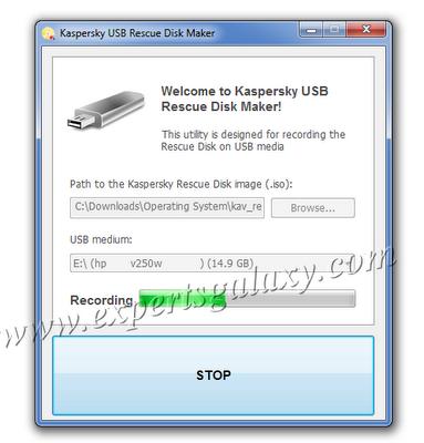 Recording USB Rescue Disk