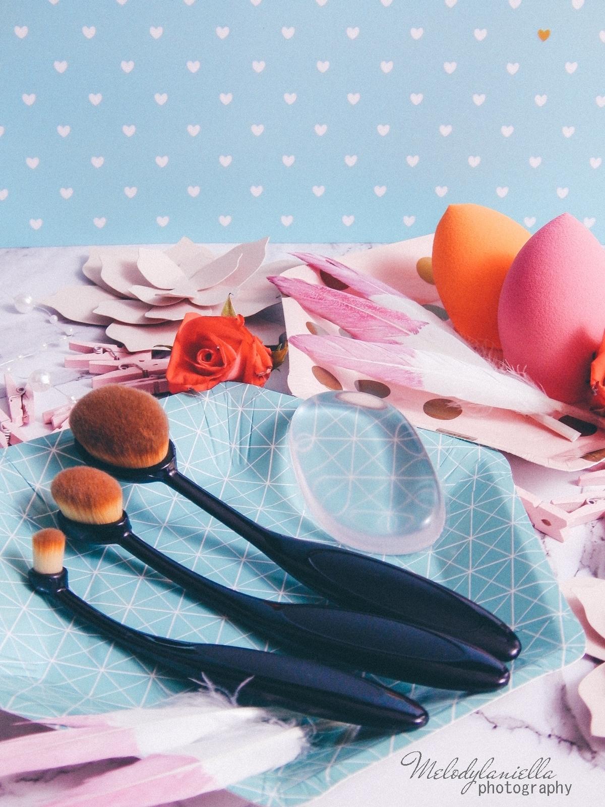 9 clavier gąbka do makijażu blending sponge szczoteczka do aplikacji cieni bazy korektora rozświetlacza bronzera silikonowa gąbeczka do makijażu czym się malować akcesoria kosmetyczne pędzle do makijażu gąbki