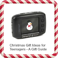 Tiny camera with snowman graphic and title text overlayed
