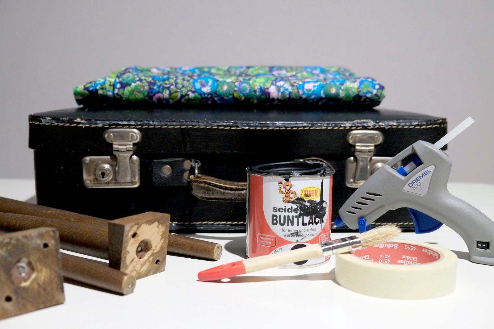 alte koffer makeover oder aus einem koffer wird einen beistelltisch saperlotte info. Black Bedroom Furniture Sets. Home Design Ideas