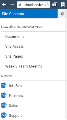 sharepoint 2013 mobile home page