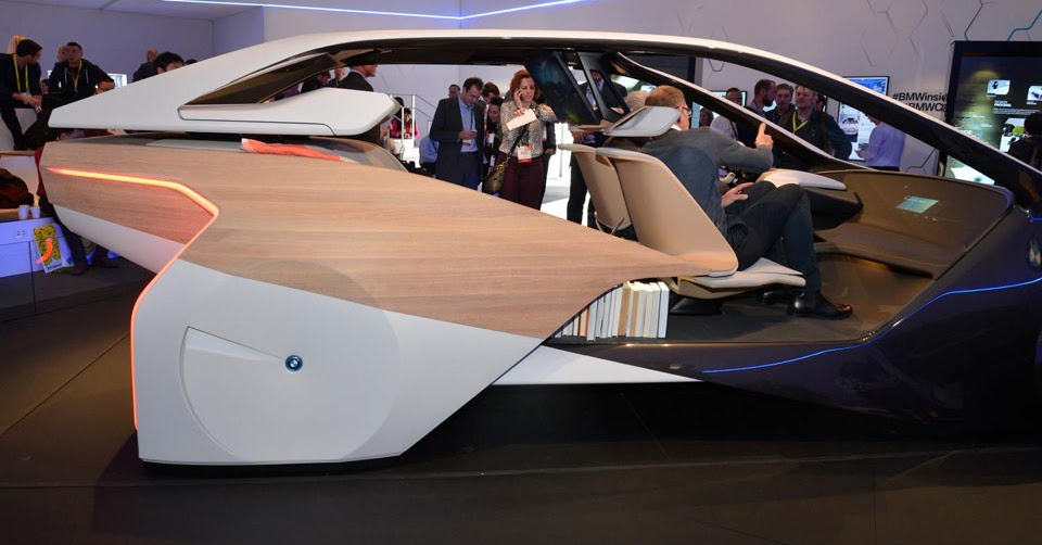 ces 2017 bmw 39 s i inside concept puts a futuristic spin on car interiors. Black Bedroom Furniture Sets. Home Design Ideas
