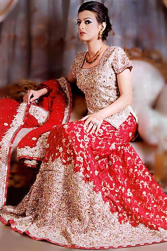Celebrity Gossip Red Lehenga