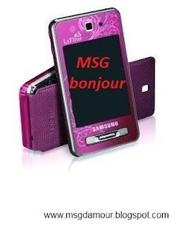 message bonjour mon amour