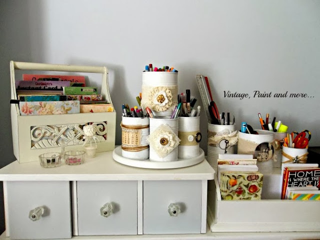 budget friendly craft room organization made from everyday found objects