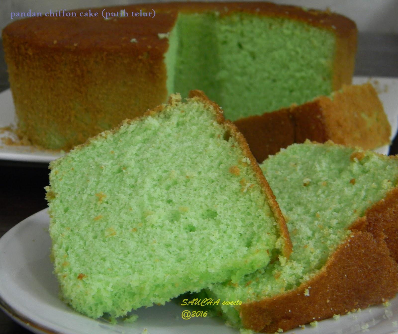 Pandan Chiffon Cake Putih Telur Dapur Saucha