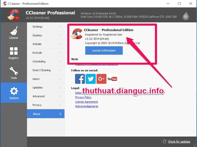 Download CCleaner v5.53.7034 Full Key miễn phí mới nhất