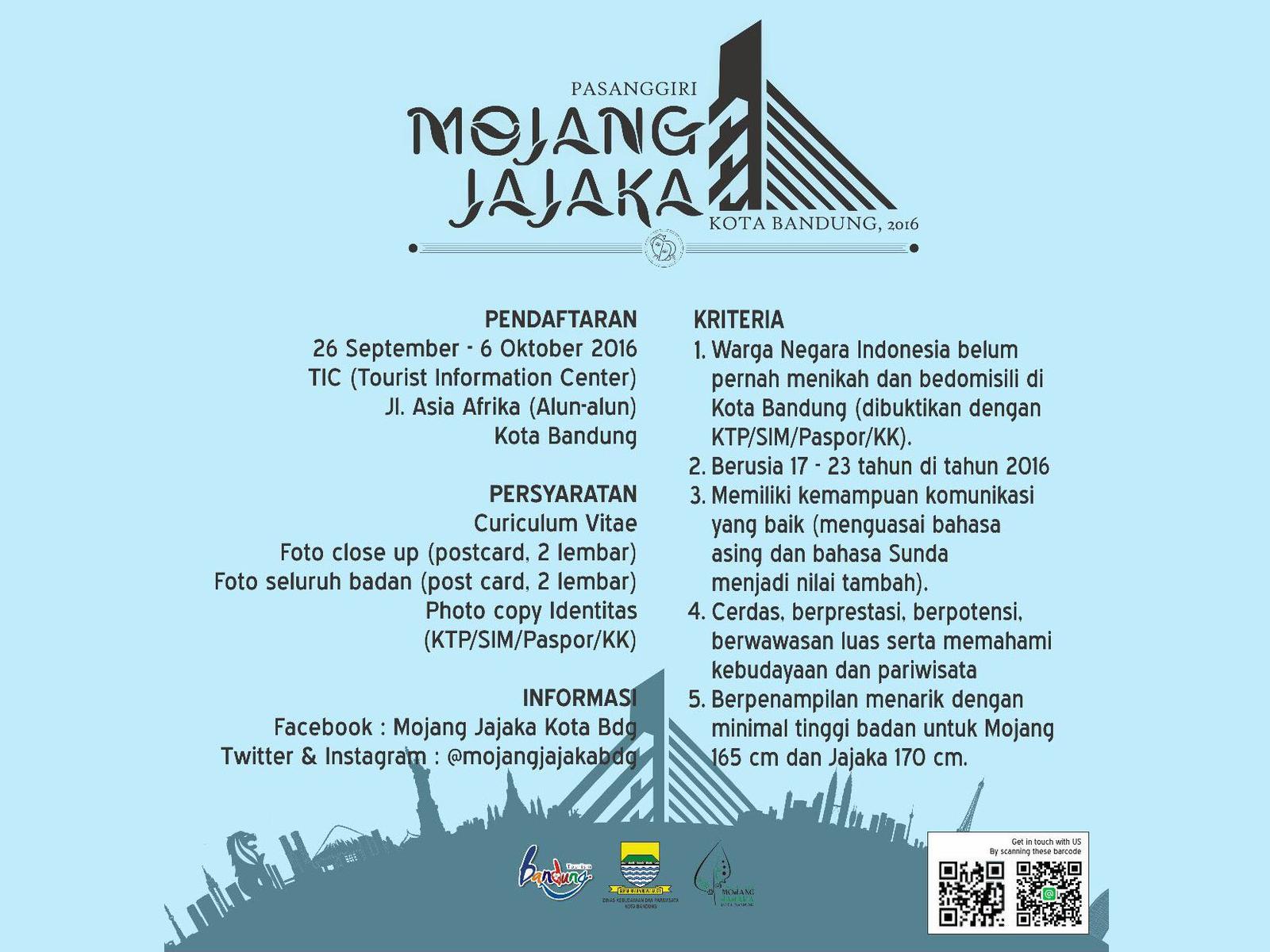 Pasanggiri Mojang Jajaka Kota Bandung 2016