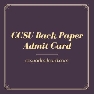CCSU Back Paper Admit Card