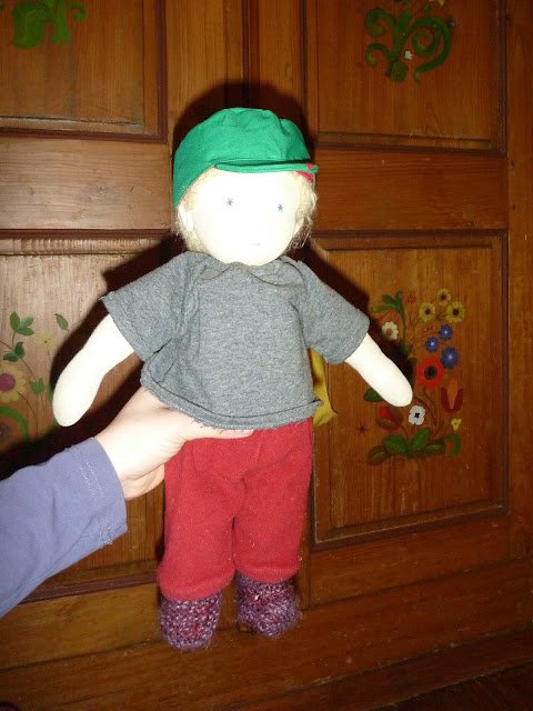 Puppe Mütze genäht